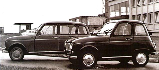 Renault 4 raccourcie de Bertin
