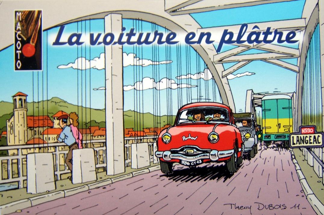 R4 en plâtre Macoto - Boîte signée Thierry Dubois